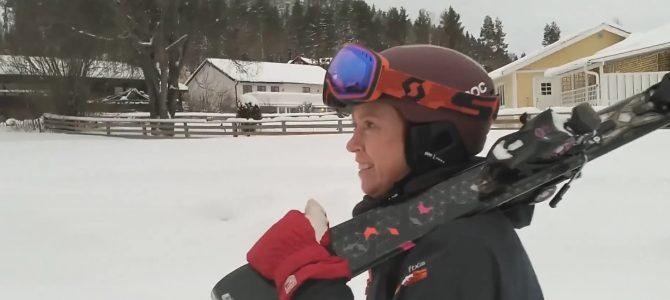 Ulrika åker skidor till jobbet