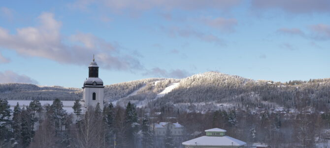 Vintern har kommit till Järvsö för att stanna