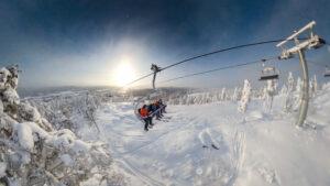 Riktig vinter i Järvsö